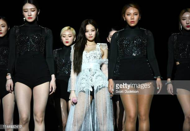 Singer Jennie Kim of BLACKPINK performs onstage during the 2019 Coachella Valley Music and Arts Festival on April 12, 2019 in Indio, California.