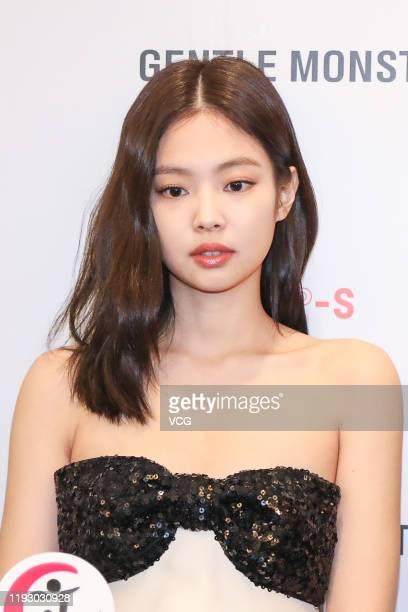 Singer Jennie Kim of South Korean girl group Blackpink attends Gentle Monster x Nudake event on December 10 2019 in Beijing China