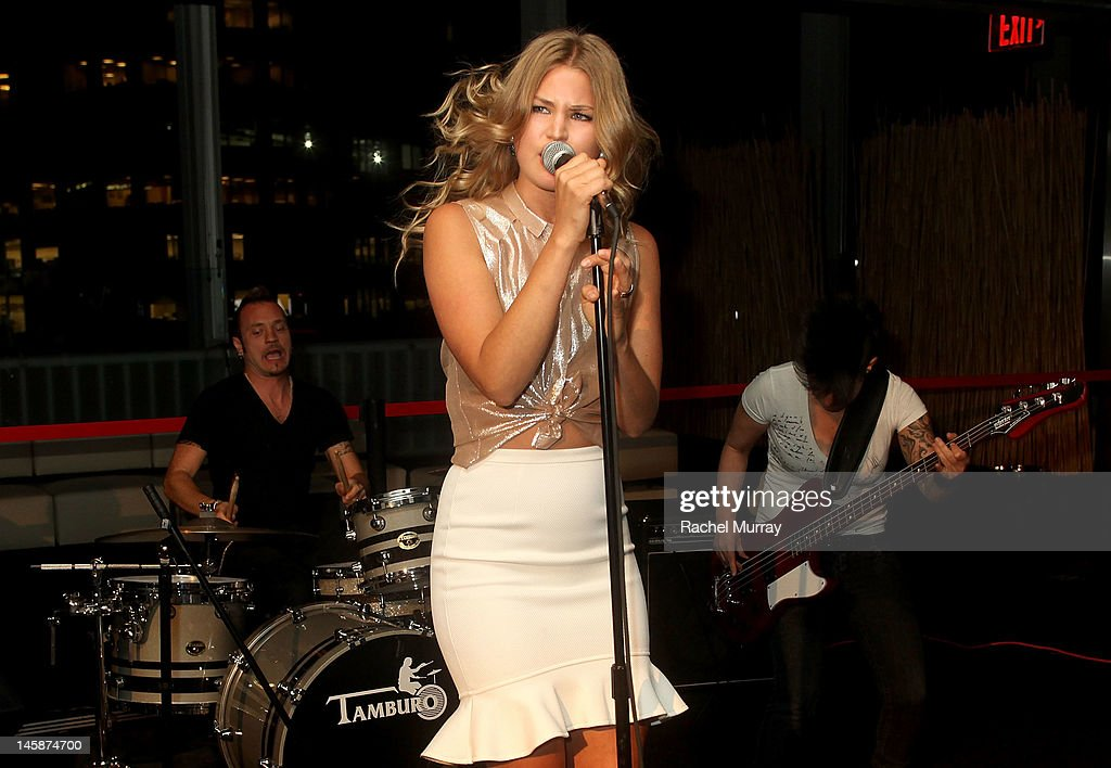 Singer Jennifer Akerman performs onstage at the VIP red carpet cocktail party hosted by WIKIPAD and NVIDIA as part of the celebrations for E3,2012 held at Elevate Lounge on June 6, 2012 in Los Angeles, California.