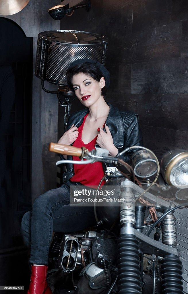 Singer Jennifer Ayache of pop/rock band Superbus is photographed for Paris Match on June 14, 2016 in Paris, France.