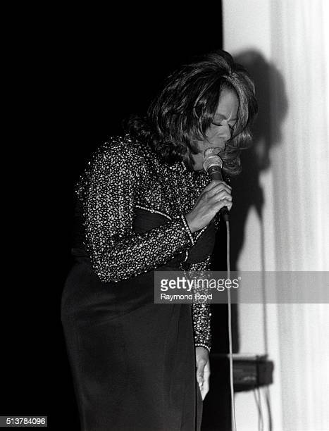Singer Jennifer Holliday performs at the DuSable Museum in Chicago Illinois in 1996