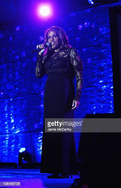 Singer Jennifer Holliday performs onstage during the 20th Annual GLAAD Media Awards at Marriott Marquis on March 28 2009 in New York City