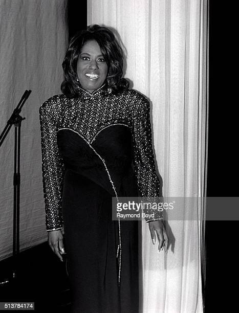Singer Jennifer Holliday poses for photos after her performance at the DuSable Museum in Chicago Illinois in 1996