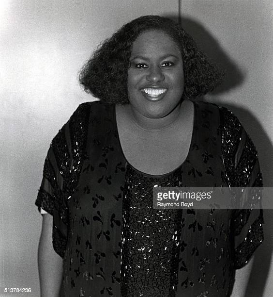 Singer Jennifer Holliday poses for photos after her performance at the New Regal Theater in Chicago Illinois in 1985