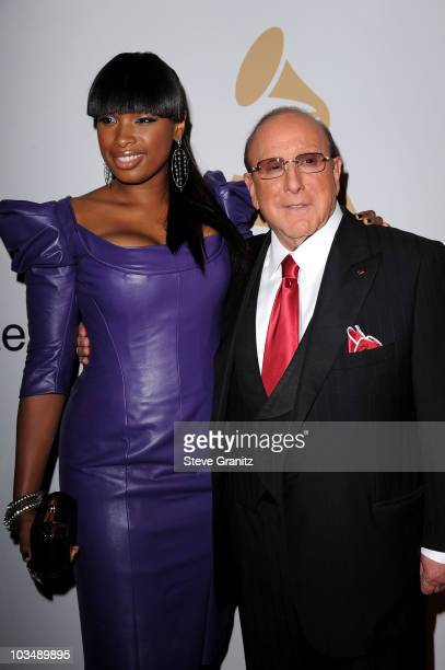 Singer Jennifer Hudson and CEO of Sony Music Entertainment Worldwide Clive Davis arrive at the 52nd Annual GRAMMY Awards Salute To Icons Honoring...