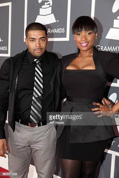 Singer Jennifer Hudson and David Ortunga arrive at the 52nd Annual GRAMMY Awards held at Staples Center on January 31, 2010 in Los Angeles,...