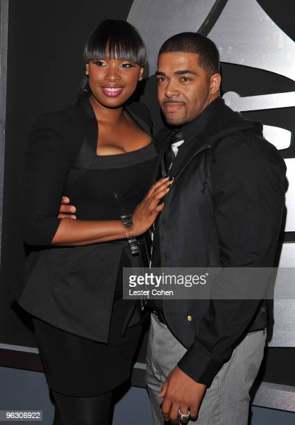 Singer Jennifer Hudson and David Otunga arrive at the 52nd Annual GRAMMY Awards held at Staples Center on January 31 2010 in Los Angeles California