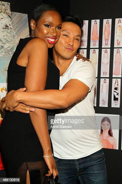 Singer Jennifer Hudson and designer Prabal Gurung pose backstage at Prabal Gurung Spring 2016 during New York Fashion Week The Shows at The Arc...