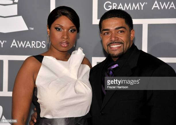 Singer Jennifer Hudson and fiance David Otunga arrive at the 51st Annual Grammy Awards held at the Staples Center on February 8 2009 in Los Angeles...