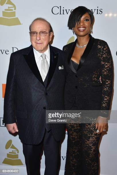 Singer Jennifer Hudson and record producer Clive Davis attend PreGRAMMY Gala and Salute to Industry Icons Honoring Debra Lee at The Beverly Hilton on...