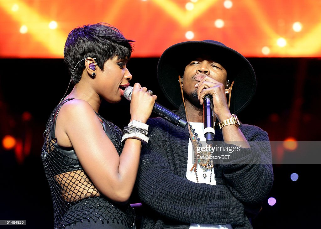 Singer Jennifer Hudson (L) and recording artist Ne-Yo perform onstage at the Mary J. Blige, Trey Songz And Jennifer Hudson Concert Presented By King.com during the 2014 BET Experience At L.A. LIVE on June 29, 2014 in Los Angeles, California.