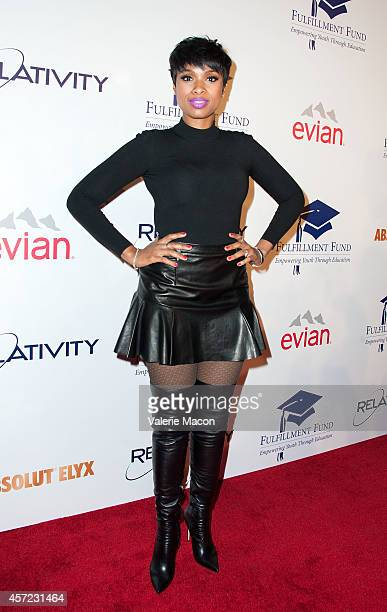 Singer Jennifer Hudson arrives at the 20th Annual Fulfillment Fund Stars Benefit Gala at The Beverly Hilton Hotel on October 14 2014 in Beverly Hills...