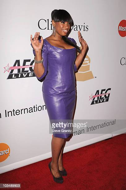 Singer Jennifer Hudson arrives at the 52nd Annual GRAMMY Awards Salute To Icons Honoring Doug Morris held at The Beverly Hilton Hotel on January 30...