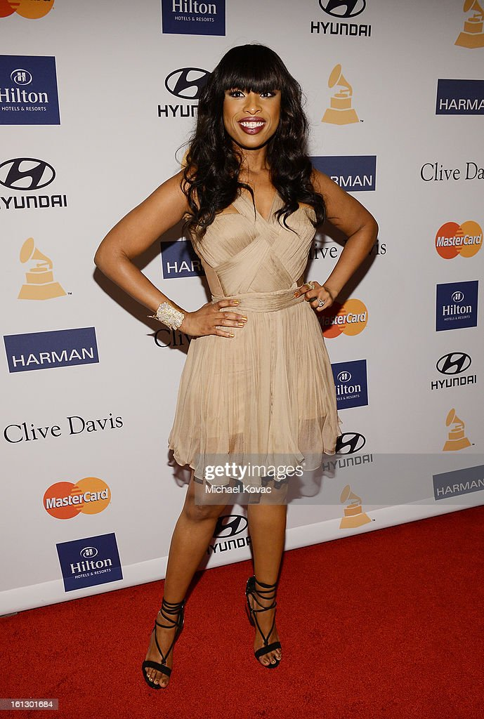 Singer Jennifer Hudson arrives at the 55th Annual GRAMMY Awards Pre-GRAMMY Gala and Salute to Industry Icons honoring L.A. Reid held at The Beverly Hilton on February 9, 2013 in Los Angeles, California.