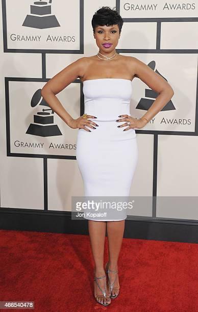 Singer Jennifer Hudson arrives at the 57th GRAMMY Awards at Staples Center on February 8 2015 in Los Angeles California