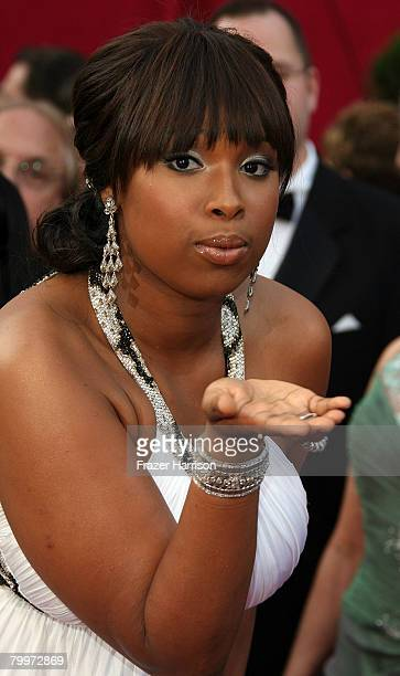 Singer Jennifer Hudson arrives at the 80th Annual Academy Awards held at the Kodak Theatre on February 24, 2008 in Hollywood, California.