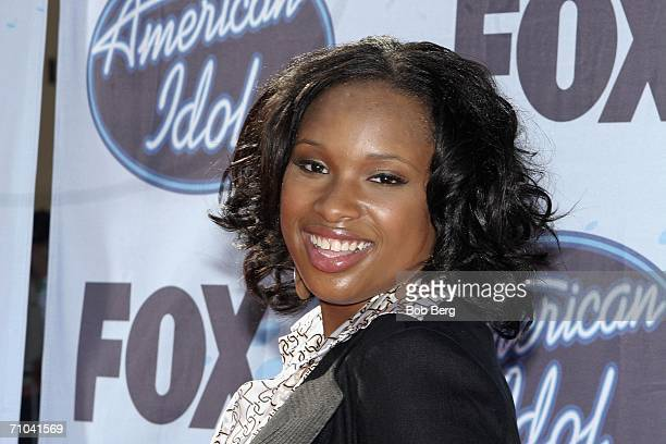 Singer Jennifer Hudson arrives at the American Idol Season 5 Finale on May 24 2006 at the Kodak Theater in Hollywood California