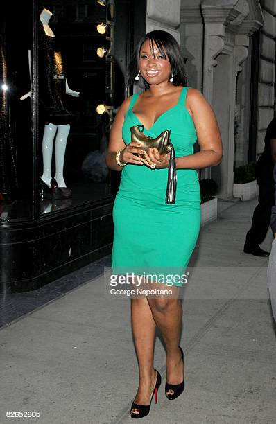 Singer Jennifer Hudson arrives at the grand opening of the Kwiat flagship boutique on September 3 2008 in New York City
