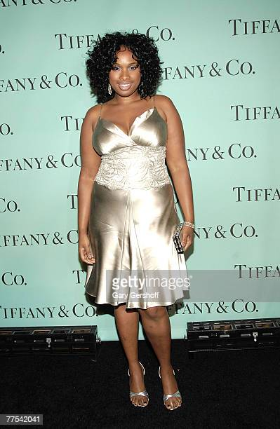 Singer Jennifer Hudson arrives to the Tiffany Co Launch of The 2008 Blue Book Collection at The Museum of Natural History on October 27 2005 in New...