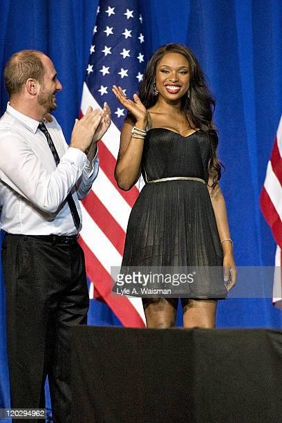 Singer Jennifer Hudson attends a fundraiser for President Barack Obama at the Aragon Ballroom on August 3, 2011 in Chicago, Illinois. The birthday...