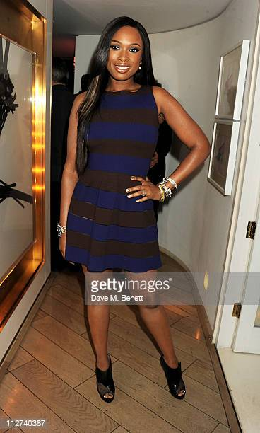 Singer Jennifer Hudson attends A Night with Jennifer Hudson at The Club at The Ivy to celebrate the release of her new album 'I Remember Me' on April...