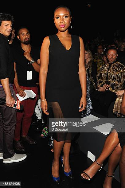 Singer Jennifer Hudson attends Prabal Gurung Spring 2016 during New York Fashion Week The Shows at The Arc Skylight at Moynihan Station on September...