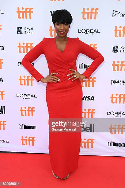 Singer Jennifer Hudson attends the Sing premiere during the 2016 Toronto International Film Festival at Princess of Wales Theatre on September 11...