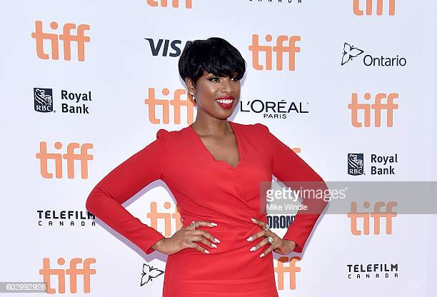 Singer Jennifer Hudson attends the 'Sing' premiere during the 2016 Toronto International Film Festival at Princess of Wales Theatre on September 11...