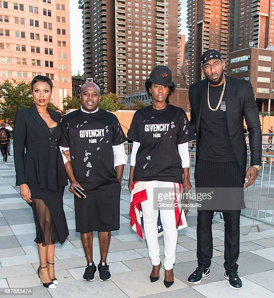 Singer Jennifer Hudson Guests and Amar'e Stoudemire are seen arriving at the Givenchy fashion show during Spring 2016 New York Fashion Week on...