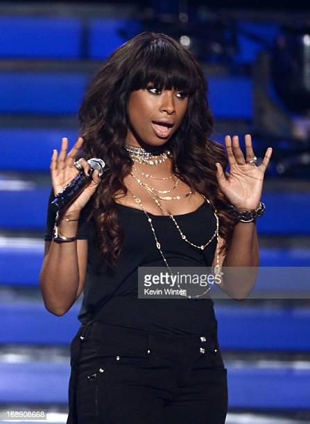Singer Jennifer Hudson perform onstage during Fox's 'American Idol 2013' Finale Results Show at Nokia Theatre LA Live on May 16 2013 in Los Angeles...