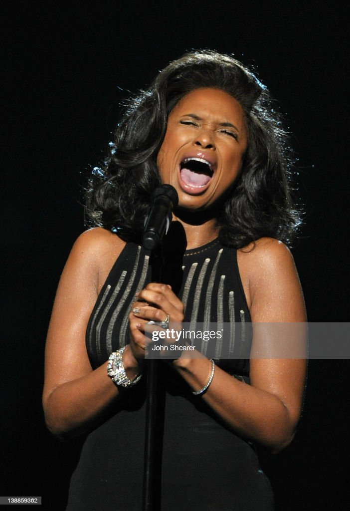 Singer Jennifer Hudson performs a tribute to the late Whitney Houston onstage at The 54th Annual GRAMMY Awards at Staples Center on February 12, 2012 in Los Angeles, California.