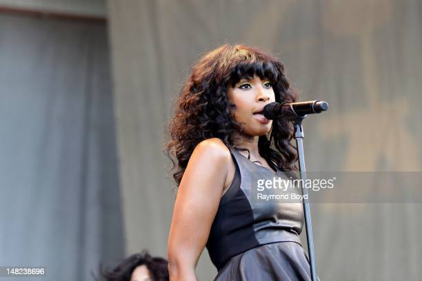 Singer Jennifer Hudson performs on the Petrillo Music Shell during the 32nd Annual 'Taste Of Chicago' in Chicago Illinois on JULY 11 2012