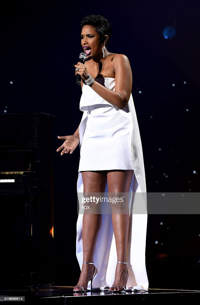 Singer Jennifer Hudson performs onstage at FOX's American Idol Season 15 Finale on April 7, 2016 at the Dolby Theatre in Hollywood, California.