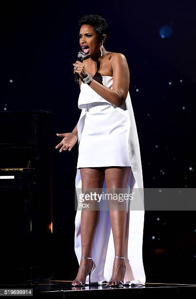 Singer Jennifer Hudson performs onstage at FOX's American Idol Season 15 Finale on April 7 2016 at the Dolby Theatre in Hollywood California