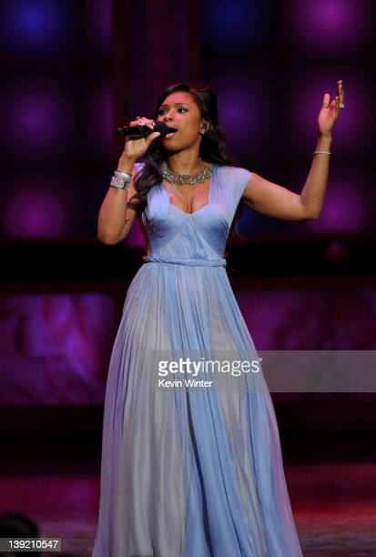 Singer Jennifer Hudson performs onstage at the 43rd NAACP Image Awards held at The Shrine Auditorium on February 17 2012 in Los Angeles California