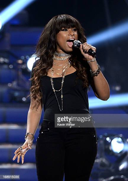 Singer Jennifer Hudson performs onstage during Fox's 'American Idol 2013' Finale Results Show at Nokia Theatre LA Live on May 16 2013 in Los Angeles...