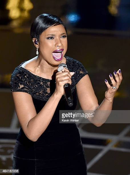 Singer Jennifer Hudson performs onstage during the 87th Annual Academy Awards at Dolby Theatre on February 22 2015 in Hollywood California