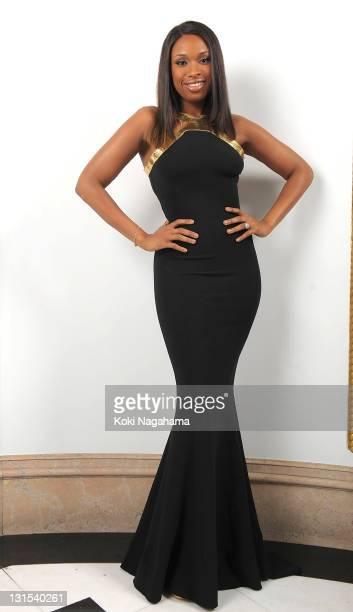 Singer Jennifer Hudson poses for photographs during the Michael Kors Celebration of American Fashion at the US Ambassadors Residence on November 5...
