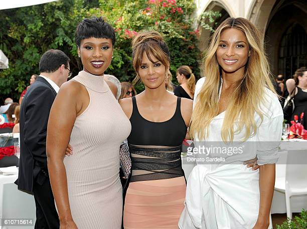 Singer Jennifer Hudson Revlon Global Brand Ambassador Halle Berry and singer Ciara attend Revlon's Annual Philanthropic Luncheon in support of the...