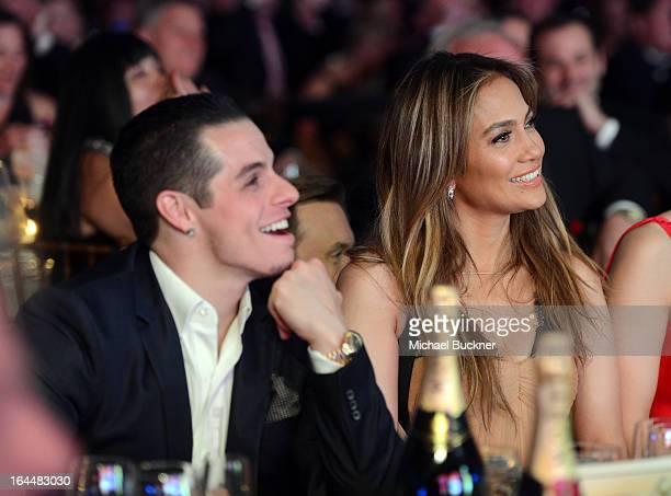 Singer Jennifer Lopez and boyfriend Casper Smart attend Muhammad Ali's Celebrity Fight Night XIX at JW Marriott Desert Ridge Resort & Spa on March...