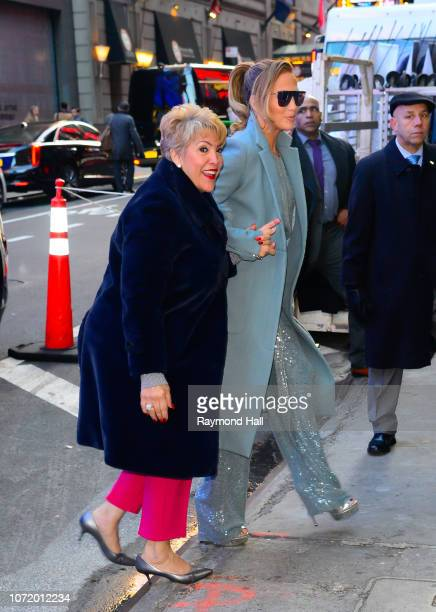 Singer Jennifer Lopez and her mom Guadalupe Rodriguez are seen outside Good Morning America on December 12 2018 in New York City