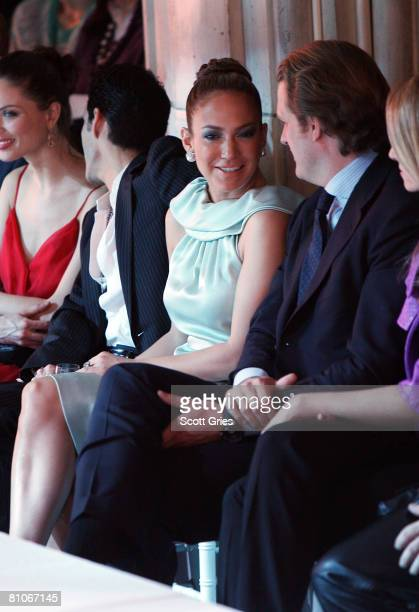 Singer Jennifer Lopez and husband singer Marc Anthony attend the Christian Dior Cruise 2009 Collection at Gustavino's May 12 2008 in New York City