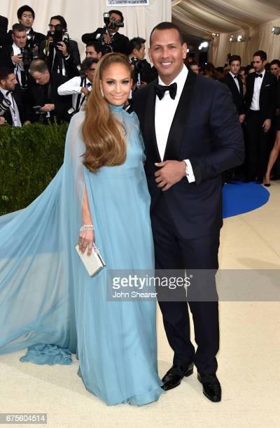 Singer Jennifer Lopez and professional baseball player Alex Rodriguez attend 'Rei Kawakubo/Comme des Garcons Art Of The InBetween' Costume Institute...