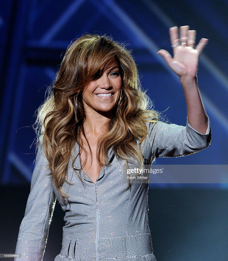 Singer Jennifer Lopez appears onstage at a press conference to officially announce the season 10 'American Idol' judges panel at The Forum on September 22, 2010 in Inglewood, California.