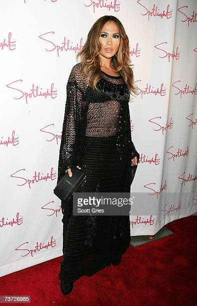 """Singer Jennifer Lopez arrives at a party to celebrate the release of her new album """"Como Ama Una Mujer"""" at Spotlight Live on March 27, 2007 in New..."""