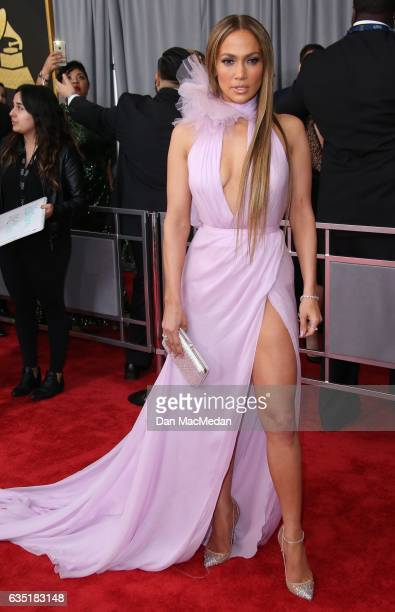 Singer Jennifer Lopez arrives at The 59th GRAMMY Awards at Staples Center on February 12 2017 in Los Angeles California