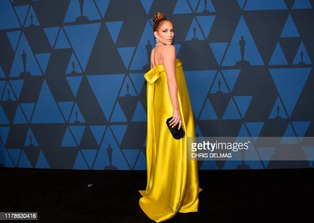 US singer Jennifer Lopez arrives to attend the 11th Annual Governors Awards gala hosted by the Academy of Motion Picture Arts and Sciences at the...