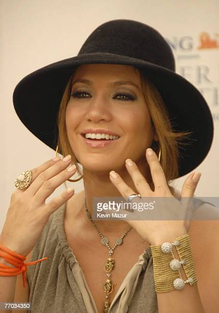Singer Jennifer Lopez at the kickoff event for ING Presents Jennifer Lopez and Marc Anthony En Concierto Tour at PS36 Union Port School on September...