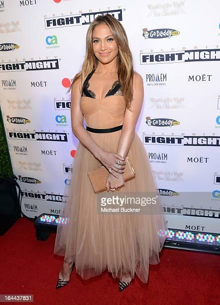 Singer Jennifer Lopez attends Muhammad Ali's Celebrity Fight Night XIX at JW Marriott Desert Ridge Resort Spa on March 23 2013 in Phoenix Arizona