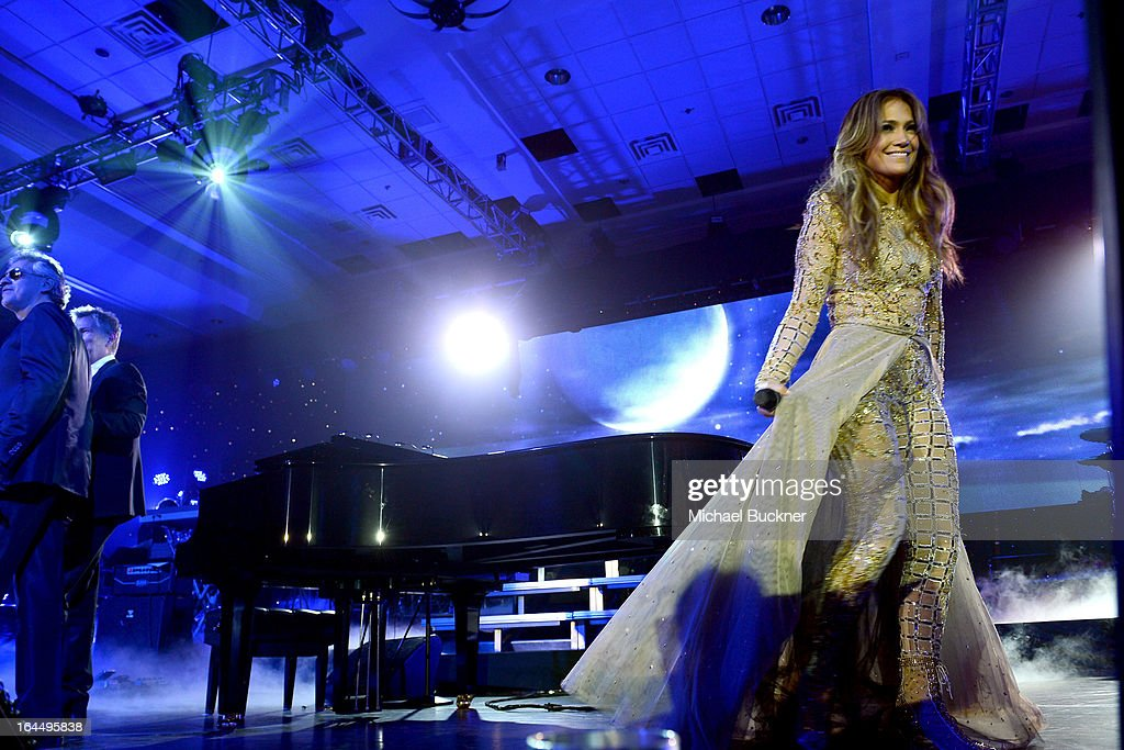 Singer Jennifer Lopez attends Muhammad Ali's Celebrity Fight Night XIX at JW Marriott Desert Ridge Resort & Spa on March 23, 2013 in Phoenix, Arizona.